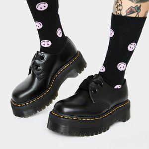 Dr Martens Holly Leather Platform Shoes Black 5